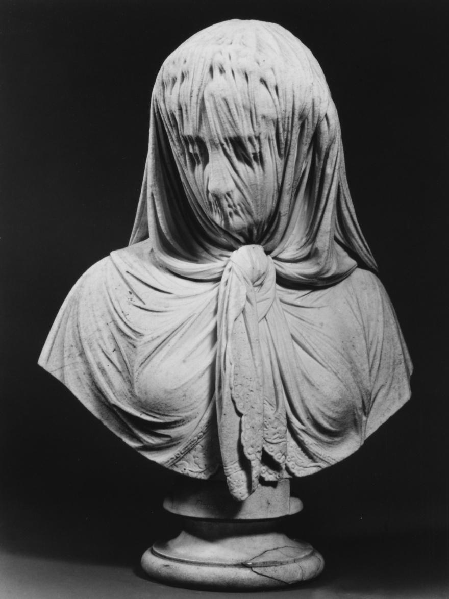 11. Женщина в вуали Джованни Батиста Ломбарди, 1869. 12. Беатриче Ченчи Хариет Хосмер, 1857.