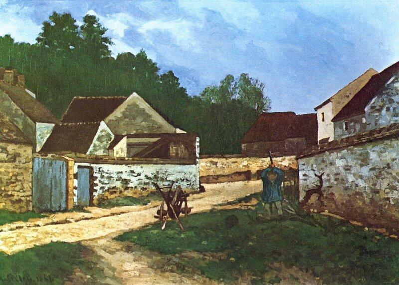 Alfred_Sisley_-_Rue_de_village_à_Marlotte,_1866