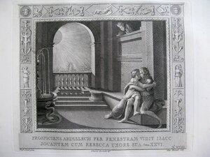 Авимелех следит за Исааком и Ревеккой (Бытие, XXVI, 8-10)