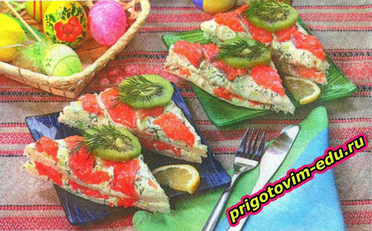 Бутерброды с рыбой и авокадо