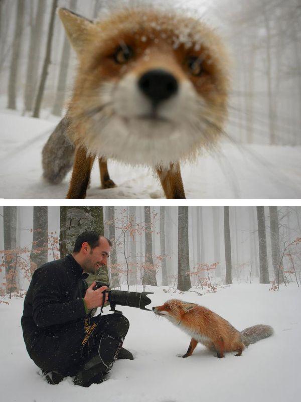 За кадром эффектных снимков
