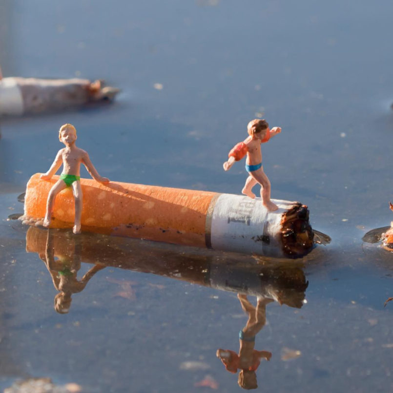 Tiny Street Interventions by Slinkachu