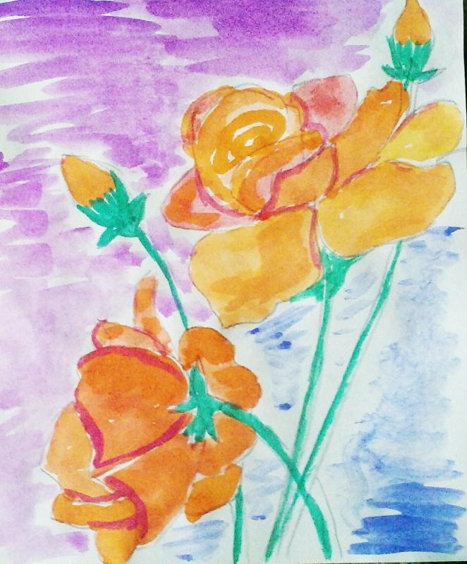 Чайные  розы.
