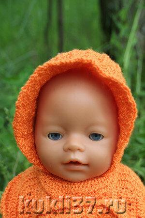 вязаный капор для куклы
