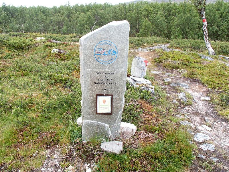 указатель национального парка Рондане (Rondane)