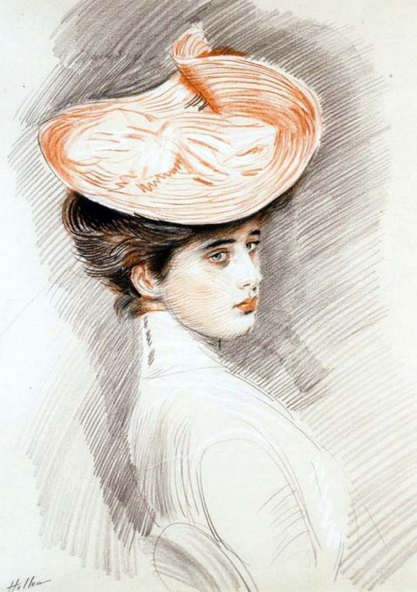 Поль Сезар Элле. Портрет жены художника Алисы Герен