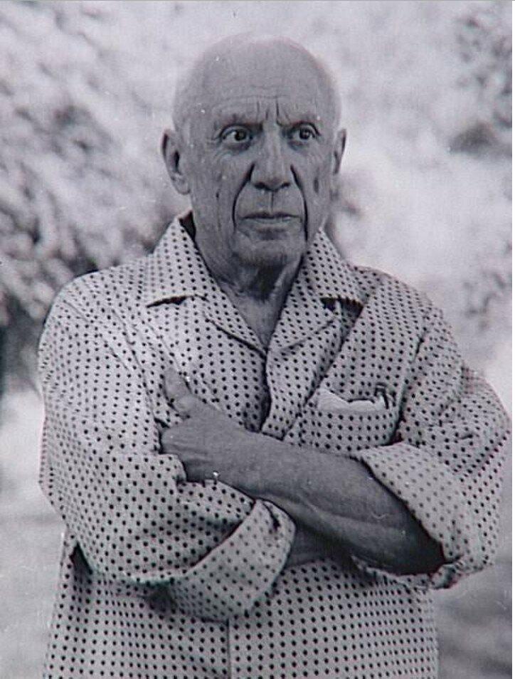 1966. Пикассо в Мужене, Нотр-Дам-де-Ви.
