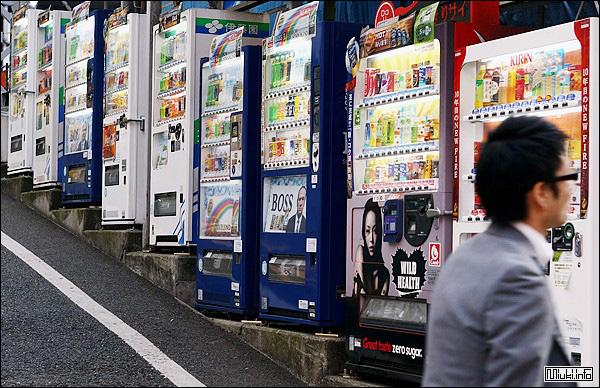 О торговых автоматах в Японии