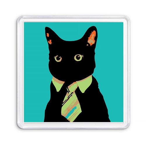Сувенирный акриловый магнит Черный Кот