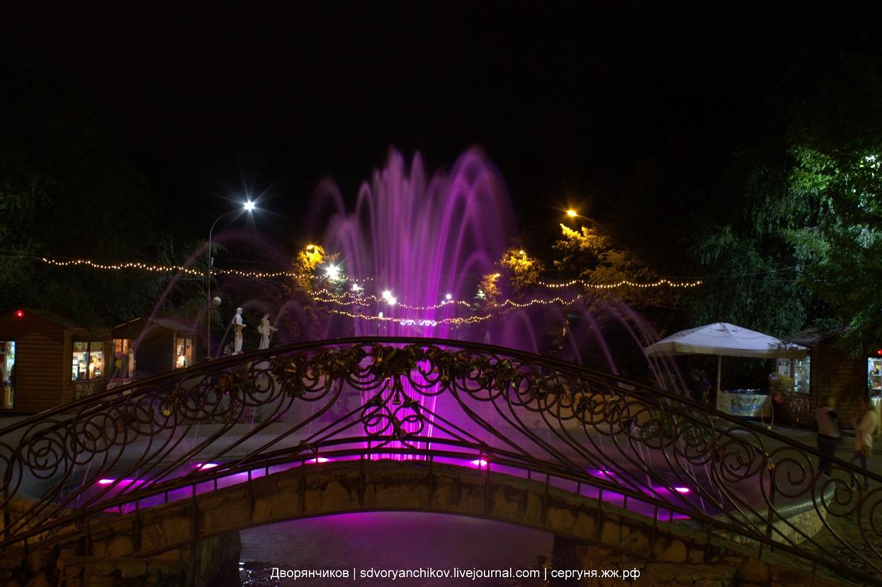 Вечерний фонтан - Волжский - парк ВГС - 13 сентября 2016