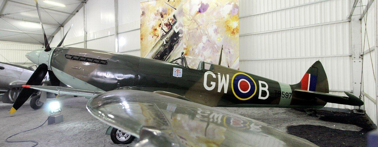 Музей авиации в Ле-Бурже. Истребитель Спитфайр (Spitfire Mk XVI)