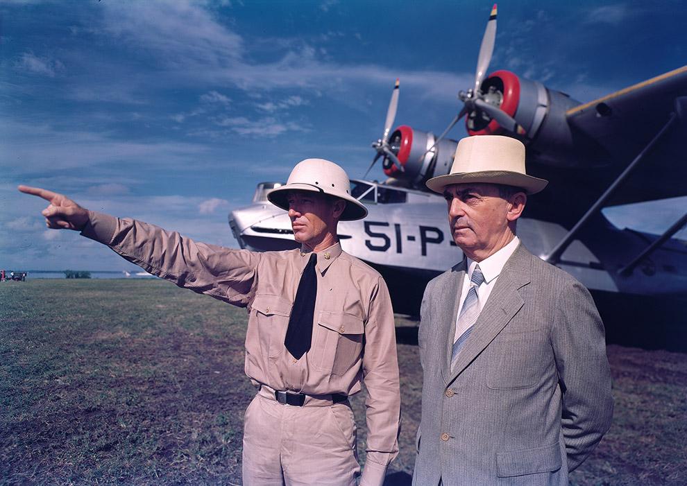 9. Рабочие компании «Texas Gulf Sulphur» работающие на железной дороге, 1939 год.