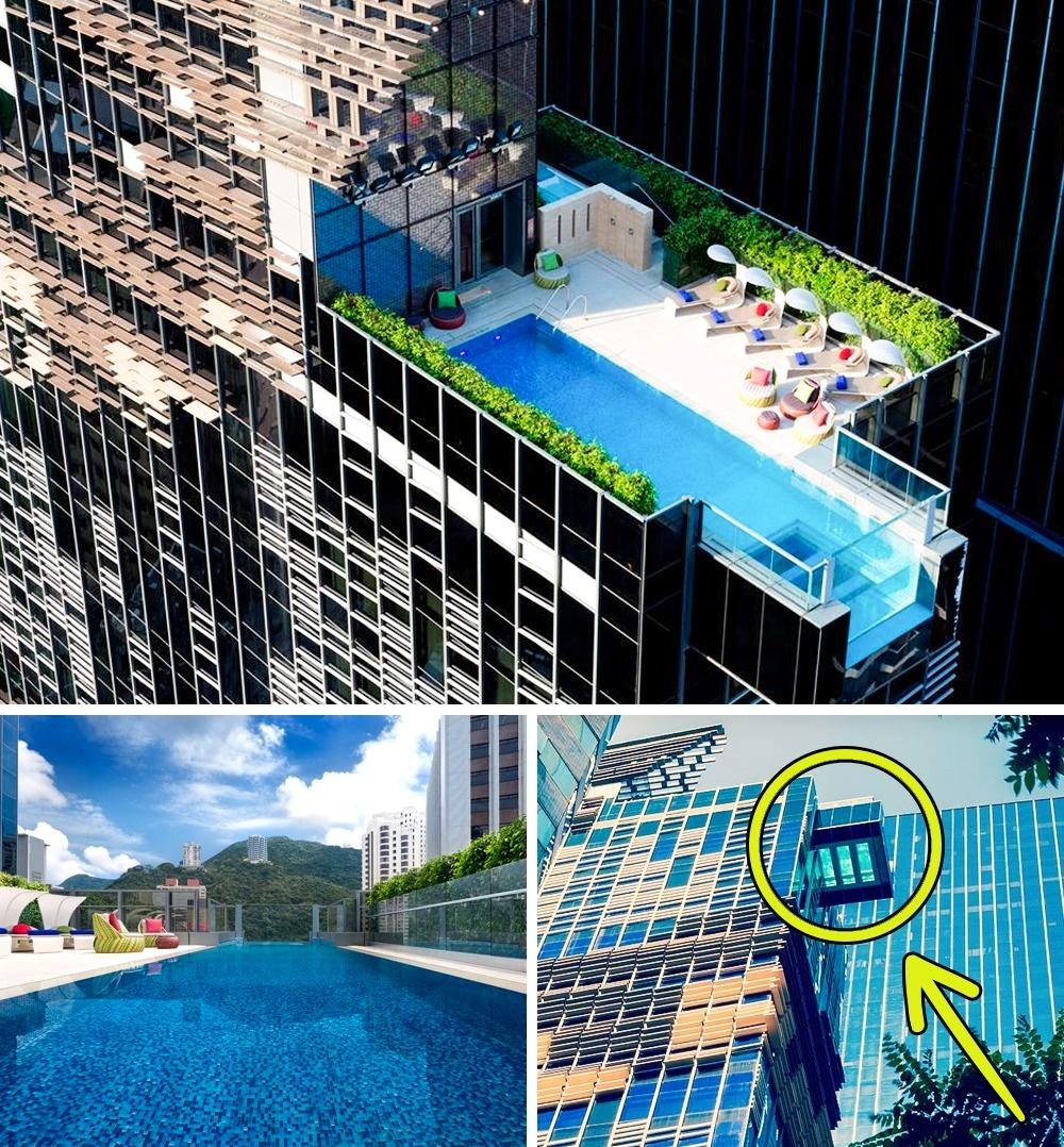 © Hotel Indigo Hong Kong Island/Facebook  Бассейн отеля Indigo буквально висит ввоздухе, над
