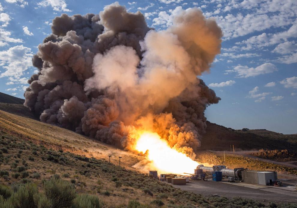 10. Испытание огнем ракеты для полетов на Марс, штат Юта, 28 июня 2016. (Фото NASA | Bill Ingal