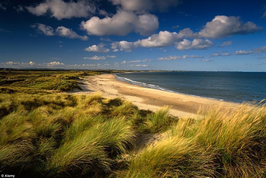 11. Обширные песчаные дюны Дреридж-Бей в графстве Нортумберленд.