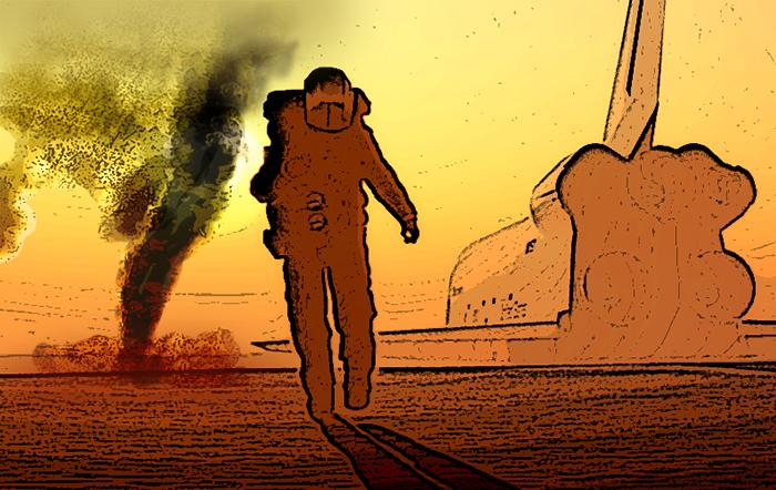 На Марсе распространено такое явление, как пыльные вихри («пыльные дьяволы»). Впервые они были сфото