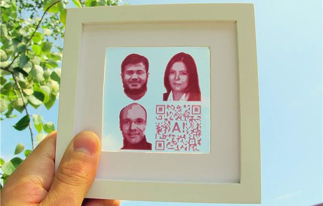 Напечатанная солнечная батарея превратит ваш портрет в источник энергии (2 фото)