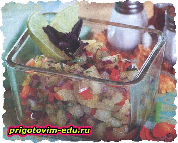 Сальса из дыни и перца