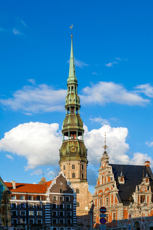 RIGA, LATVIA - AUGUST 28: The Main Square on August 28, 2014 in Riga.