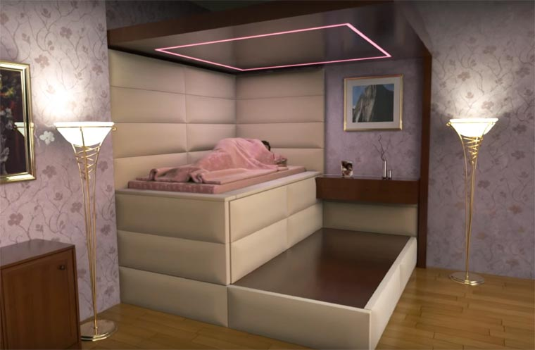 He invents anti-earthquake beds to protect people against strong shocks