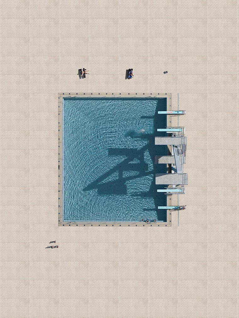 Aerial Pools - Documenting the shapes of pools around the world