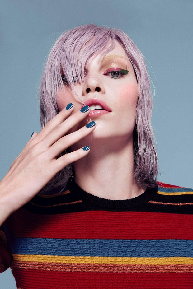Aline Weber Stars in Three Cosmetics Walk The Line FW16 Campaign
