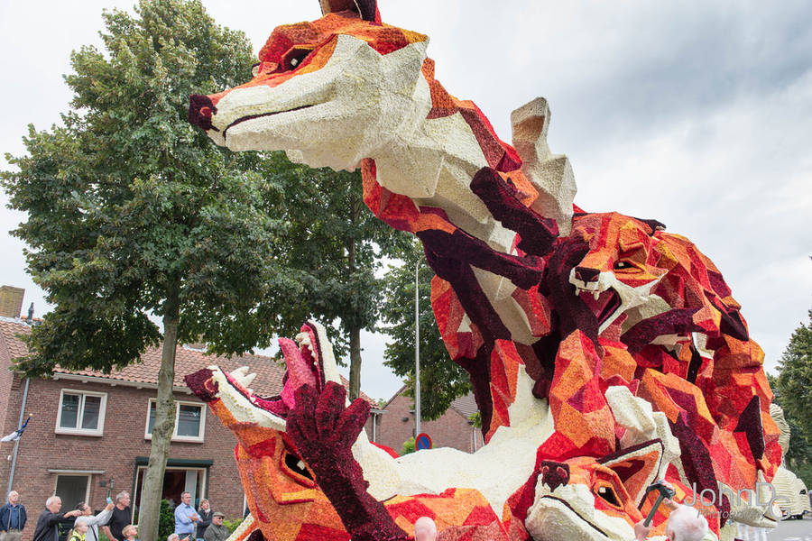 Beautiful Floats for the Annual Corso Zundert Flower Parade