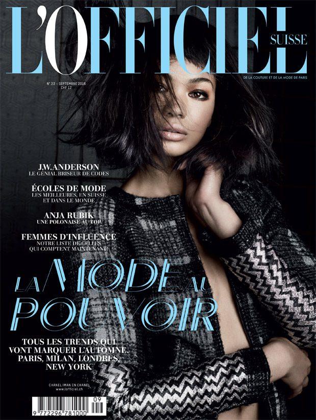 Chanel Iman Stars in L'Officiel Suisse September 2016 Cover Story
