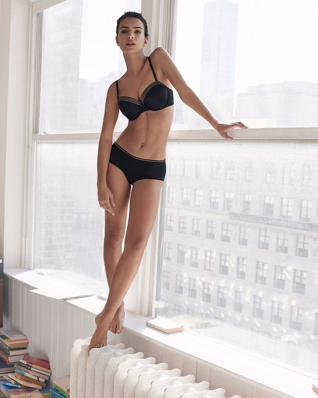 Emily Ratajkowski Models DKNY Spring Summer 2017 Intimates Collection