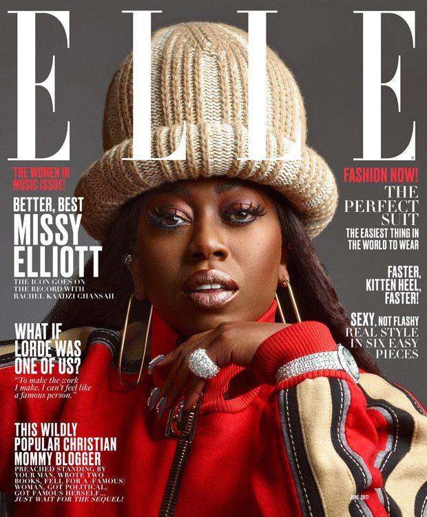 Missy Elliott Stars in American Elle Magazine June 2017 Cover Story (4 pics)