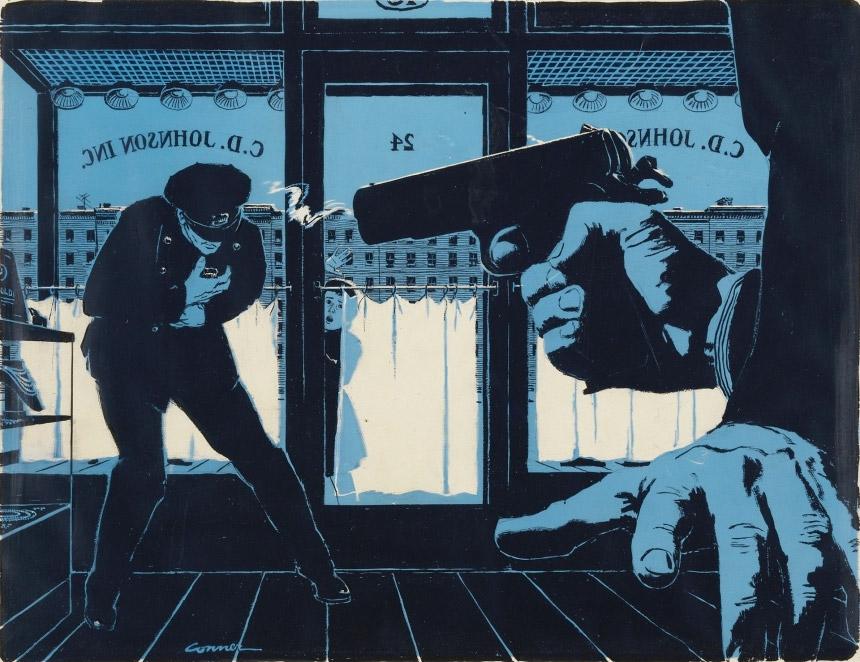 Ilustracoes de Mac Conner, um dos Mad Men original
