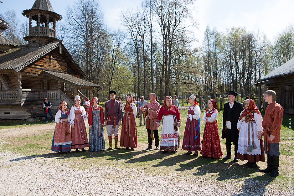 Музей деревянного зодчества Витославлицы под Великим Новгородом