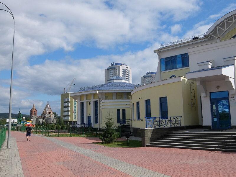 Кемерово - Детская железная дорога - Здание вокзала