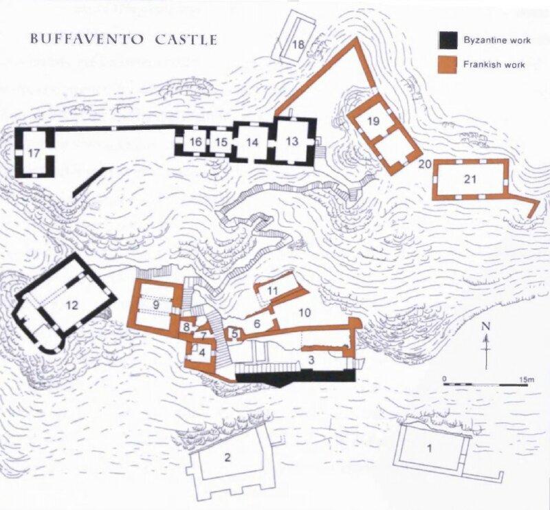 Буффавенто. План крепости