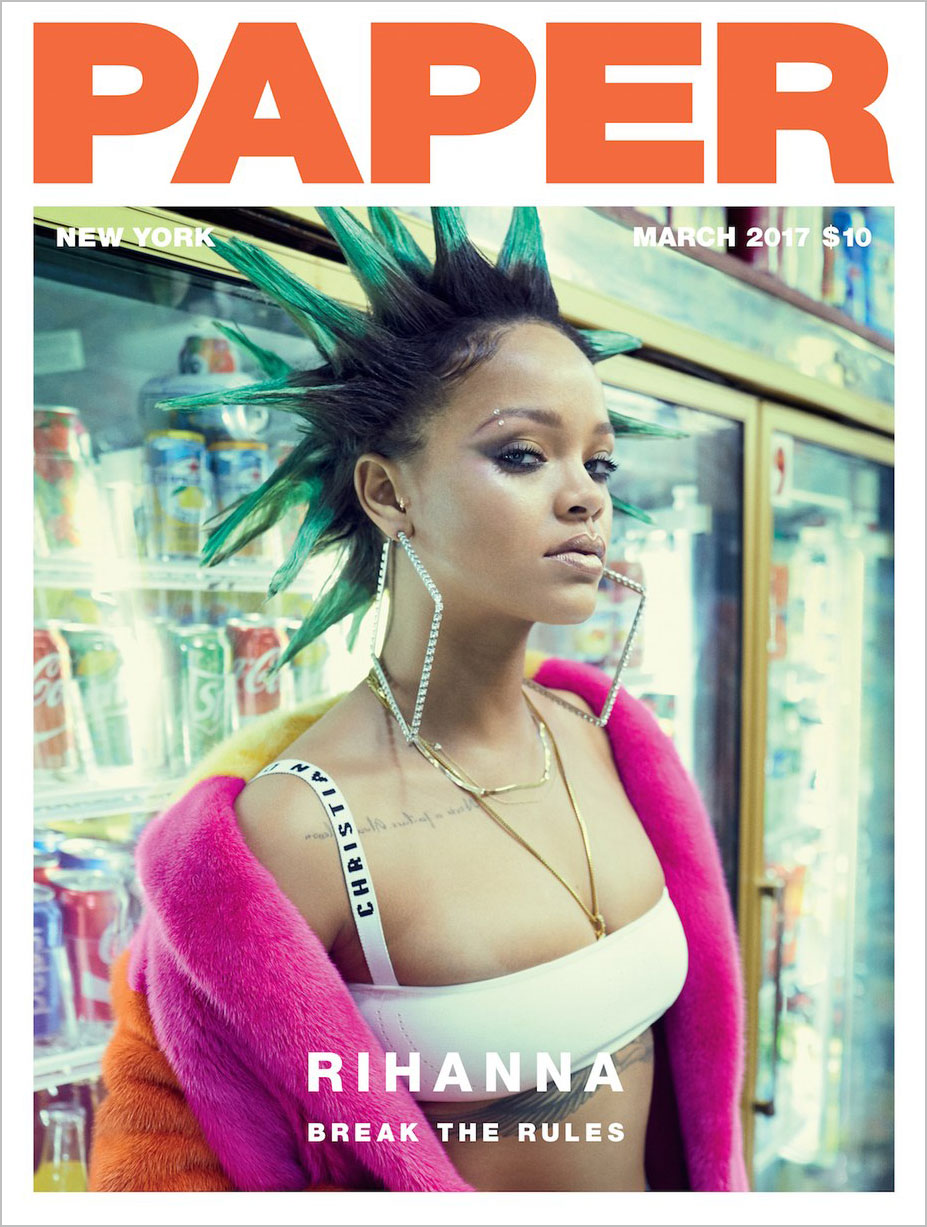 в универсаме с Рианной / Rihanna by Sebastian Faena - Paper Magazine march 2017