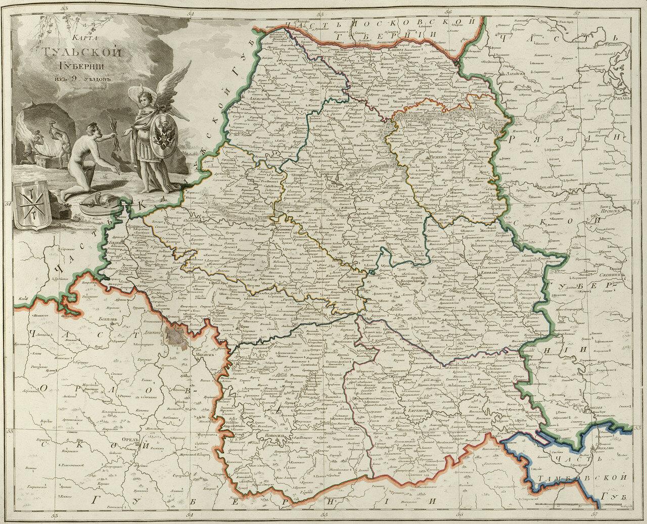 24. Карта Тульской губернии