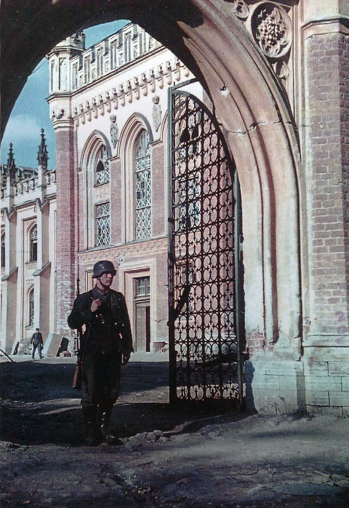 1941. Немецкий часовой у императорских конюшен
