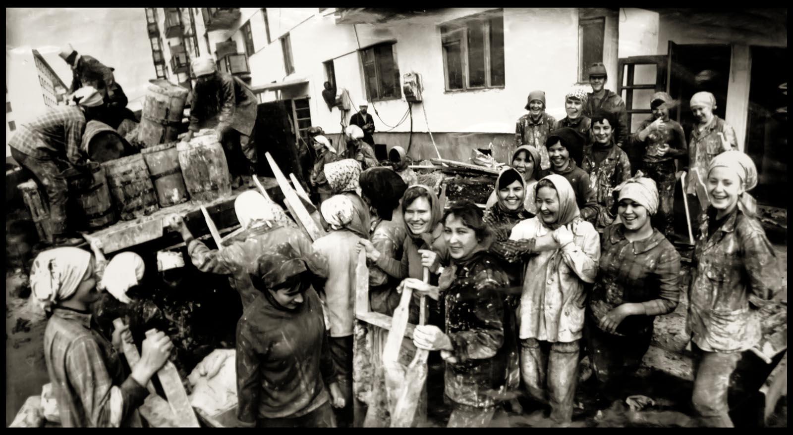 1971. Набережные Челны. Камазонки