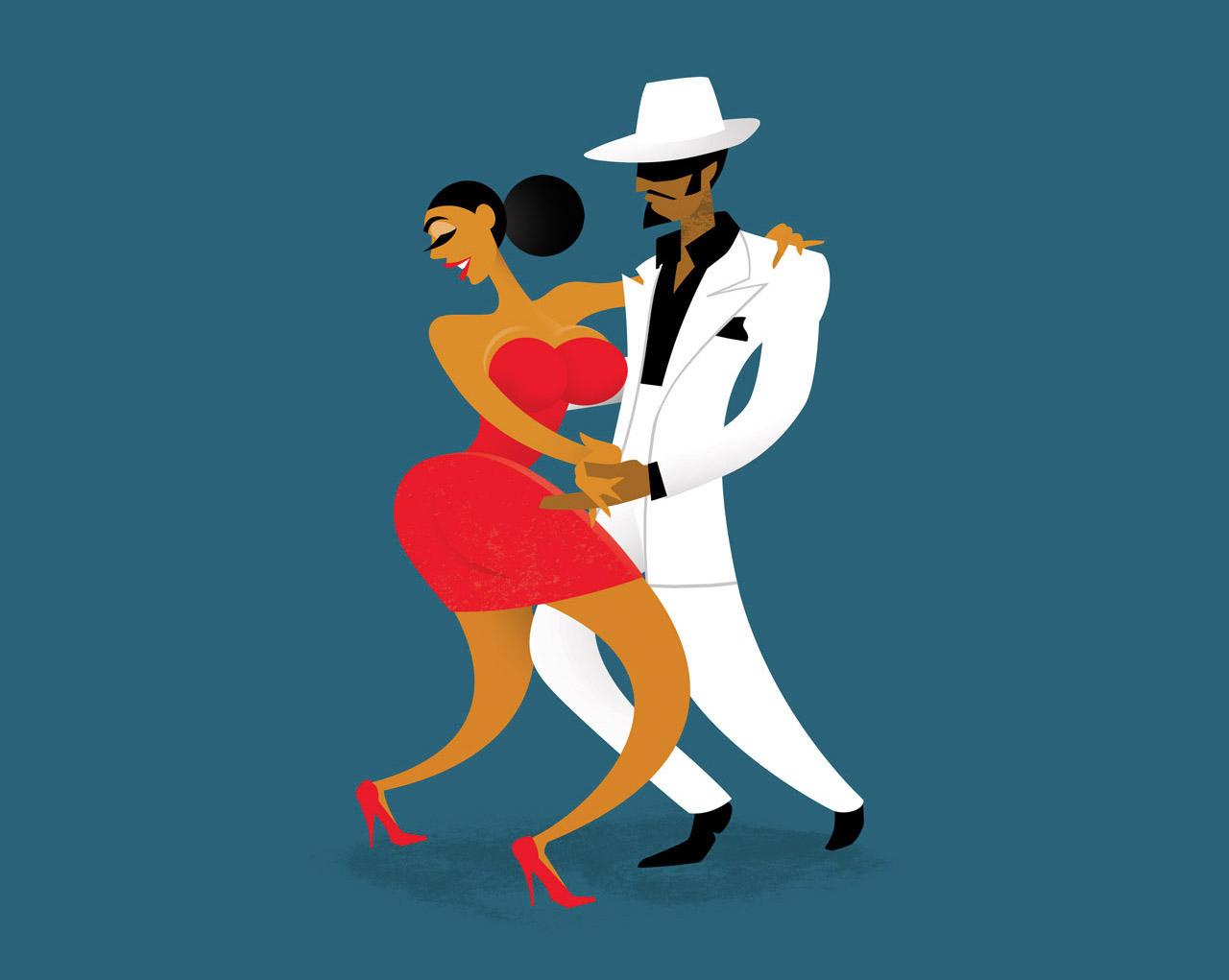 Музыка танцы / рисунки Studio Drawgood