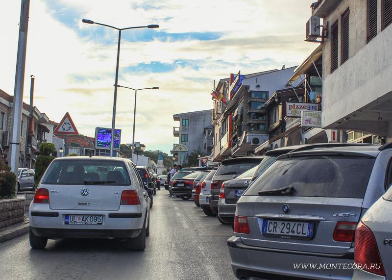 На территории Ульциня парковка бесплатная