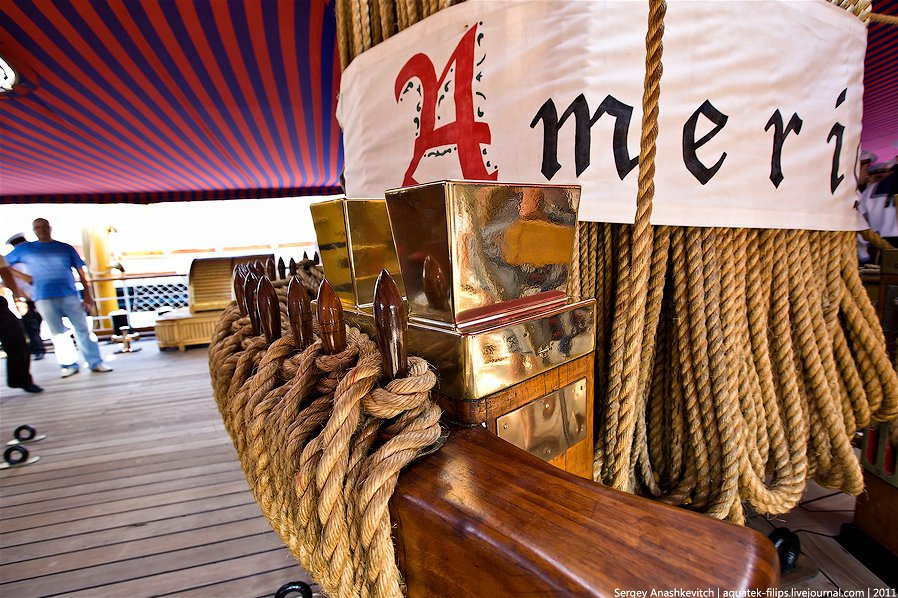 Экскурсия на итальянский парусник Amerigo Vespucci