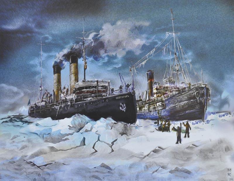 Козлова М Ю Спасение ледок пар Соловей Будим в 1920 2008 800.jpg