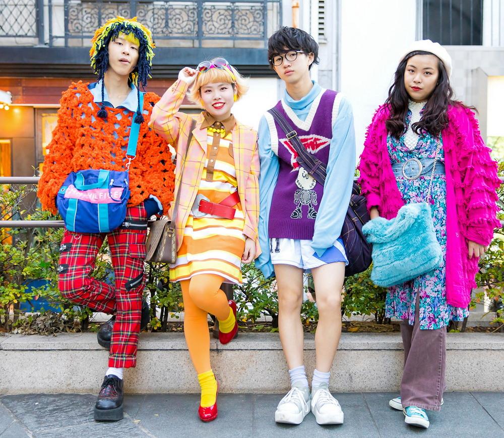 Модные персонажи на улицах Токио (08.02.18)
