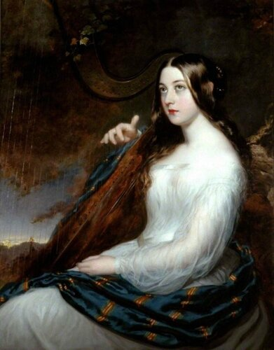 William Beechey (British, 1753-1839) Sarah Curran (1782-1808) playing the Harp