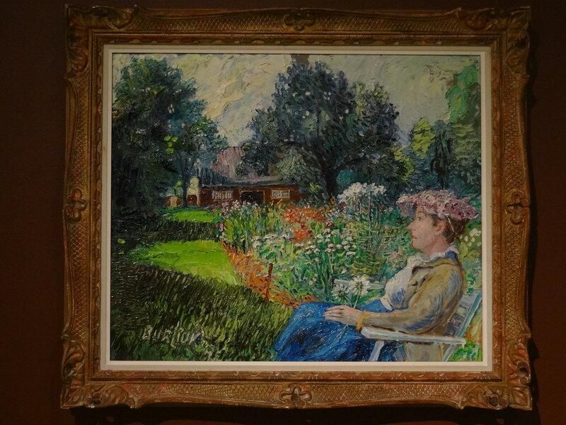 Давид Бурлюк Госпожа Бурлюк в своем саду. 1940-е Коллекция Александра Зарецкого.JPG