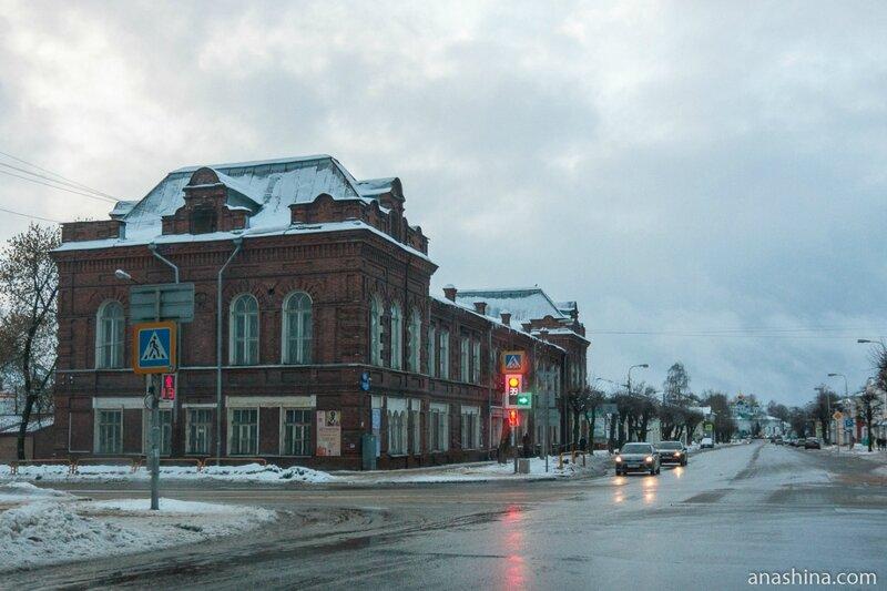Советский проспект и здание Художественного музея, Череповец