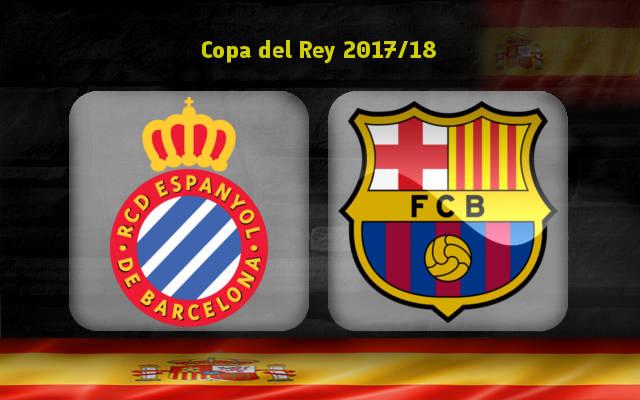 Эспаньол – Барселона (17.01.2018) | Кубок Испании 2017/18 | 1/4 финала | Первый матч