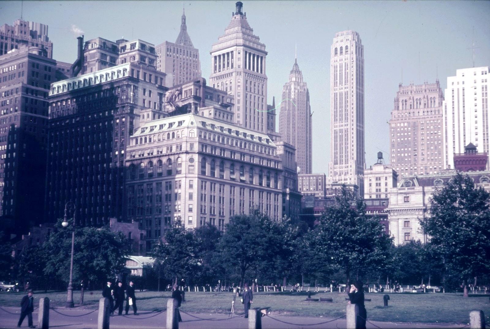 Нью-Йорк. Манхэттен. Центральный парк. Вид на небоскребы