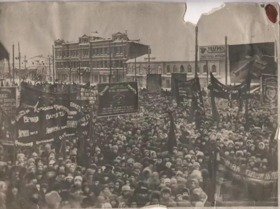 Демонстрация в Канавино в день смерти В.И.Ленина