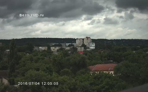 В Бельцах ожидается пасмурная погода, возможны сильные дожди